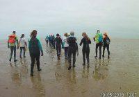 Raid aquatique: Dunkerque /Bray- dunes /Dunkerque, 18 km- 5h.