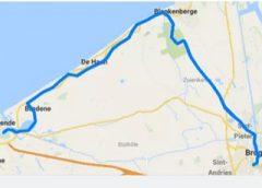 Opale Longe Cote: Samedi 8 décembre: De Oostend à Bruges 40 km.